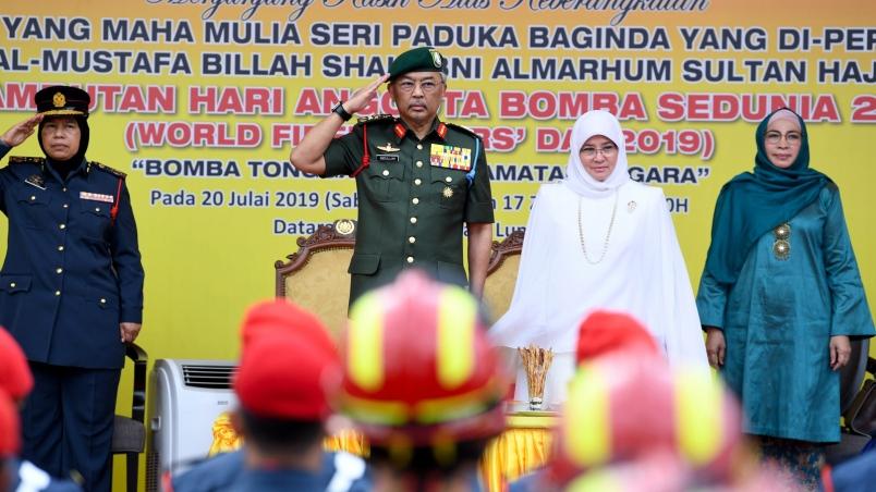 Yang di-Pertuan Agung menyambut pembukaan perayaan Hari Pemadam Kebakaran Sedunia 2019